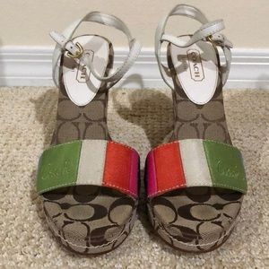 Coach colorful wedges 8